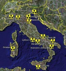 mappa_siti_nucleari in_Italia