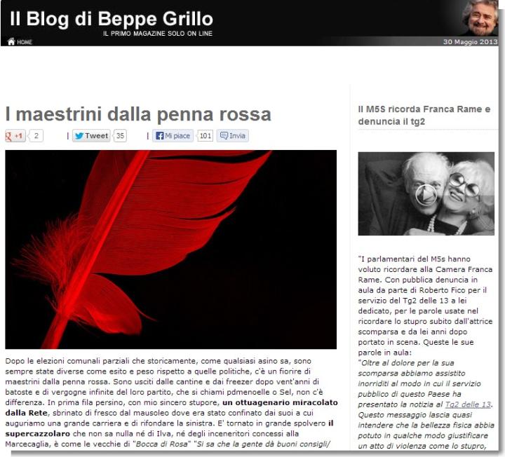 I maestrini dalla penna rossa- Blog di Beppe Grillo