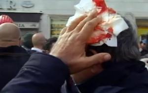 Ast: momenti tensione a sit in davanti ambasciata tedesca