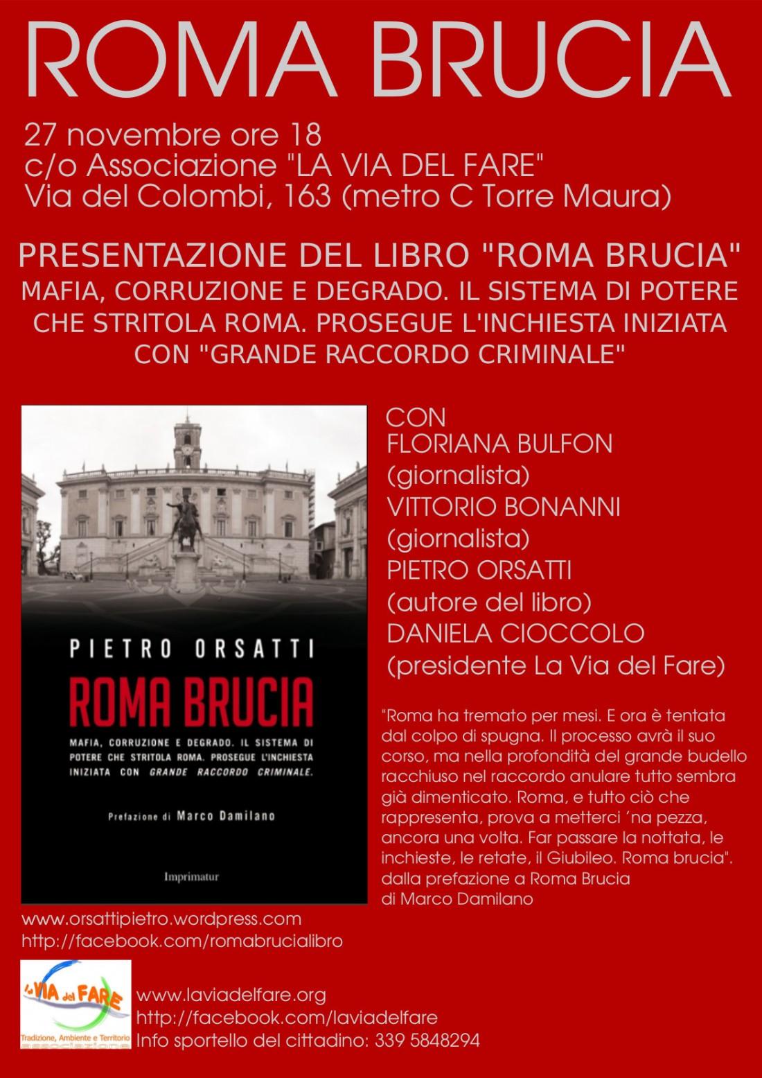 roma brucia 27 novembre Torre Maura